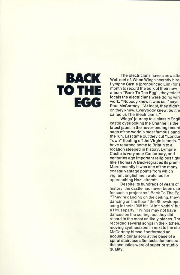 Wings back to the egg promotional flyer